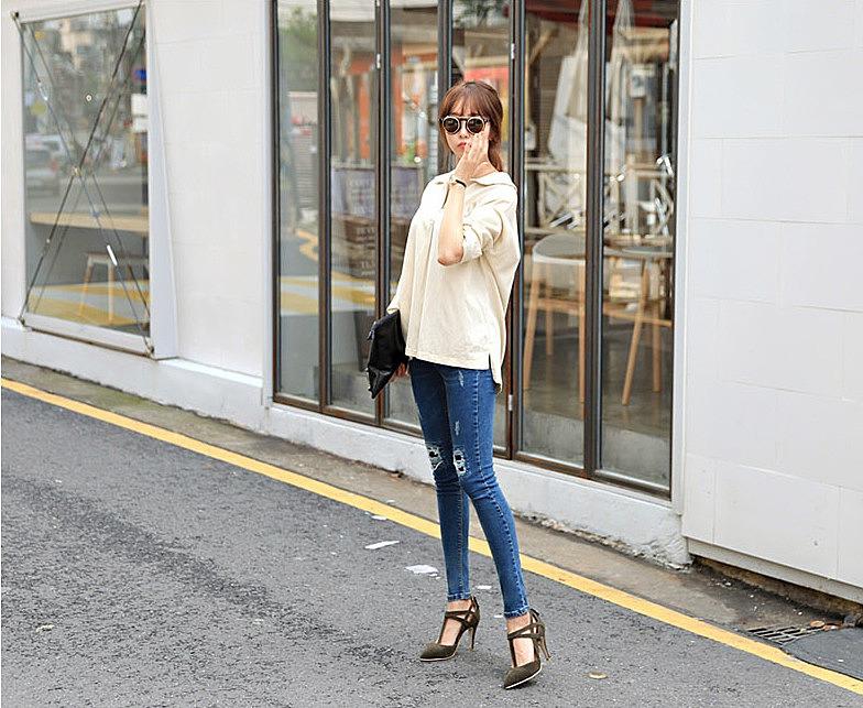 8263127fa7b Рваные зауженные джинсы заказать по низкой цене - 2380 рублей. цвет ...