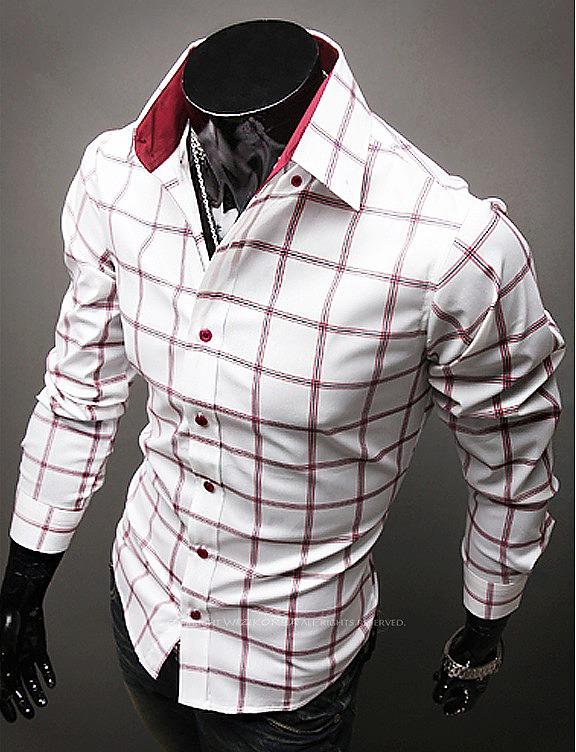 9675493cfa3 Мужская рубашка в красную клетку. современные мужские рубашки. самая ...