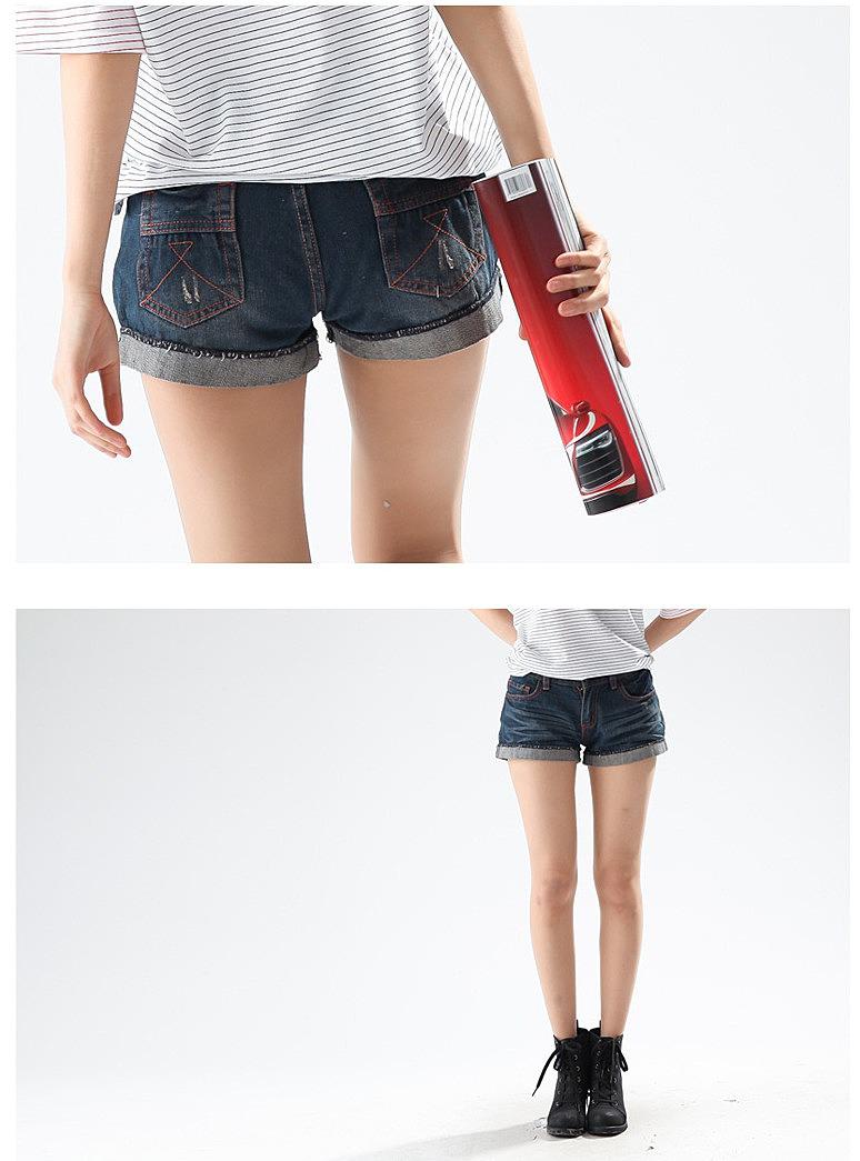 Как сшить из старых джинс шорты с подворотом 79