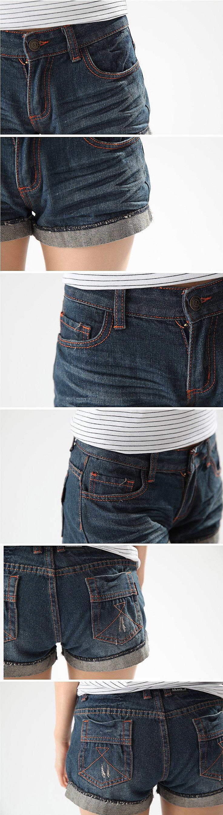 Как сшить из старых джинс шорты с подворотом 75