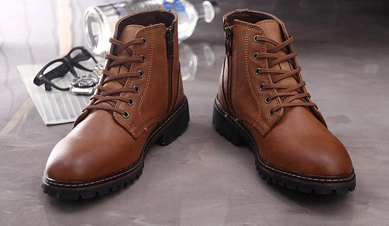 5ba02da5 Кожаные мужские низкие ботинки. цвет: коричневый, черный. купить ...