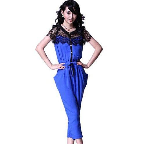 Синий комбинезон женский 161