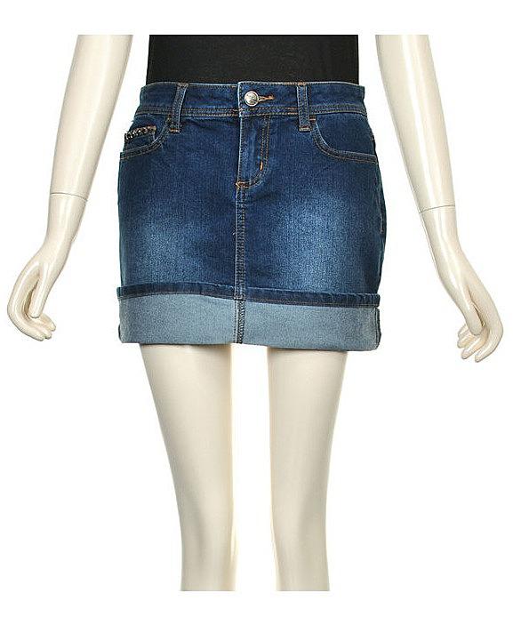 cf27a135cbb Джинсовая юбка с отворотом. недорогие женские джинсовые юбки 2015 ...