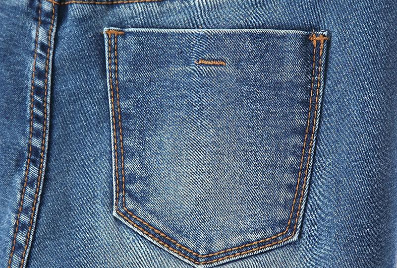 Как сделать заклепку на джинсах на кармане
