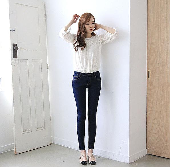 819a67cffdf Темно-синие зауженные джинсы заказать по низкой цене - 1400 рублей ...
