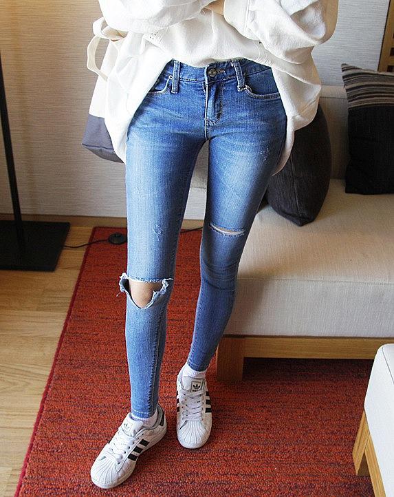 Как сделать что джинсы дальше не рвались 15