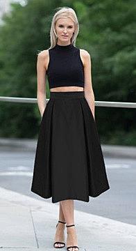 ccd775ba086 Юбка миди с тремя складками спереди. купить женскую юбку средней ...