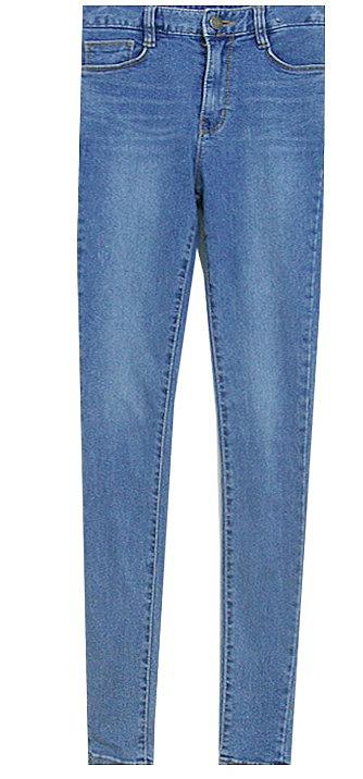 63b49690f5bc Темно-синие джинсы с маленькими рваными полосочками