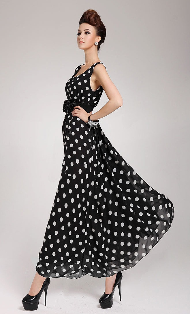 Черное Платье В Горошек Купить