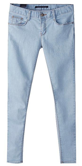 ec41f6ce6f9 Зауженные голубые женские джинсы заказать по низкой цене - 2240 ...