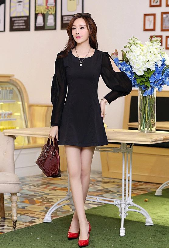 3f3535234c3 Короткое платье с необычными рукавами из шифона купить по низкой ...