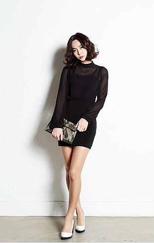 755ebc40035 Короткое черное шифоновое платье купить по низкой цене