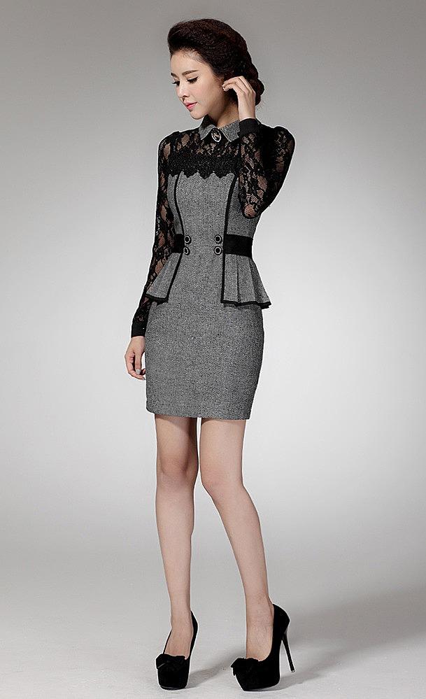 f76062d7860 Платье по фигуре с кружевными вставками купить по низкой цене ...