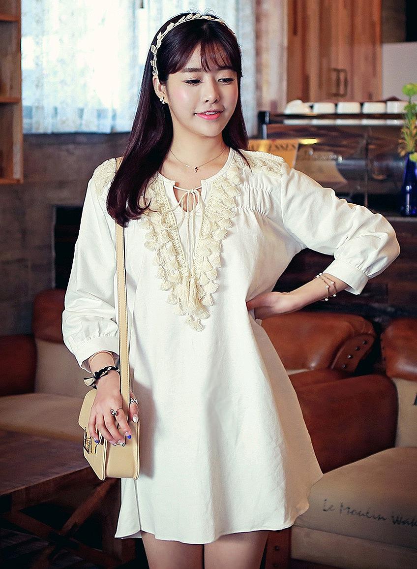 e793868f309 Короткое платье-туника с бахромой - новая модель летнего платья по ...