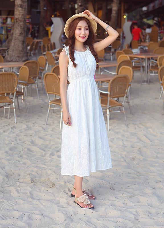 02af29bbf04 Длинный белый сарафан с вышивкой купить в интернет магазин