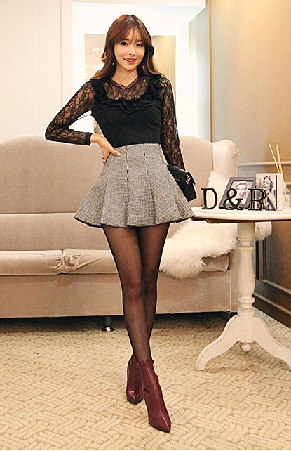 Ткань гусиная лапка юбки