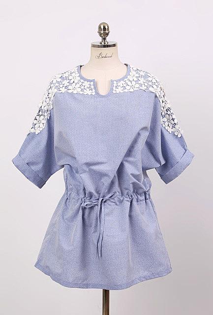 c0734737202 Платье-туника с кружевами - новая модель летнего платья по низкой ...