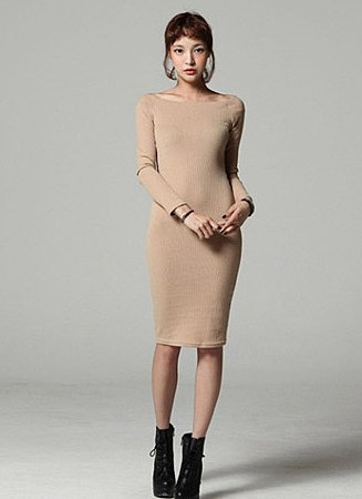 e346ac3f3911ff7 Обтягивающее платье до колен по низкой цене, купить вязаное платье в ...