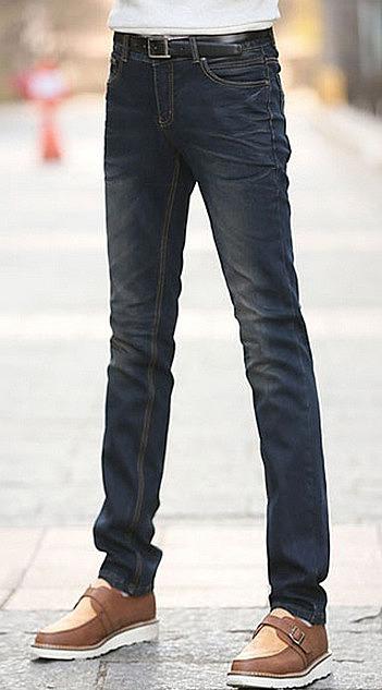 b54e0f2762d Темно-синие джинсы с высокой посадкой. покупайте недорого зауженные ...