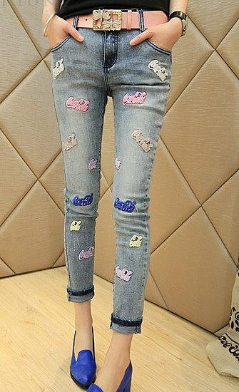 71d36e2ab68 Зауженные джинсы с надписью coca-cola заказать по низкой цене - 2240 ...