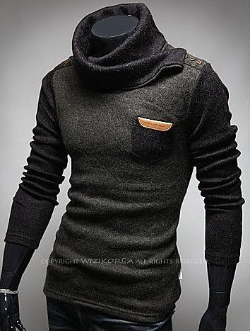 229c39c58bf6f Стильный свитер с кожаной нашивкой. модные мужские свитера и ...