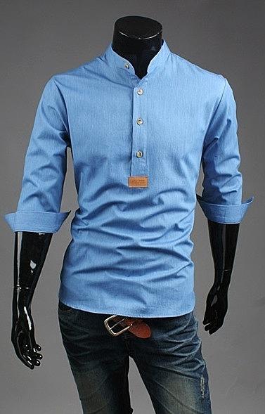 23cdeab163f Рубашка с узким воротником в онлайн каталоге. оригинальный цвет ...
