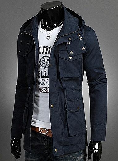 423d2564acf Куртка с капюшоном и накладными карманами купить с доставкой. цена ...