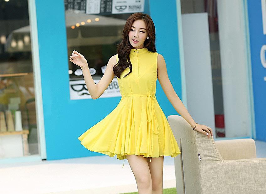 d57c594a98c Короткое однотонное платье - новая модель летнего платья по низкой ...