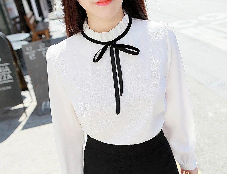 Блузка Темно Белая