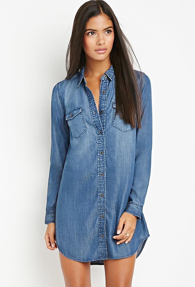 7cb841211e01e43 Платье-рубашка из ткани шамбре от contemporary купить в интернет ...