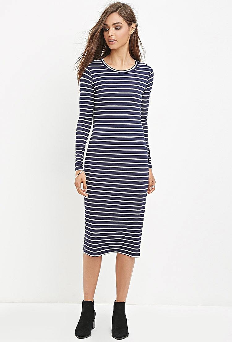 f6e1fc9e740 Платье миди в полоску купить в интернет магазине одежды