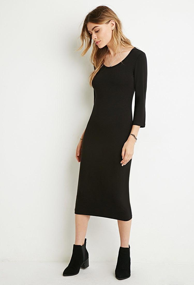 Облегающее Платье Миди Купить