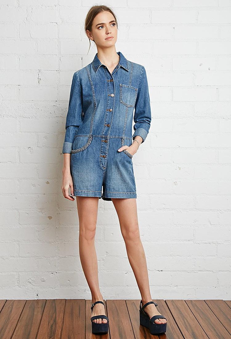 27db41d1430 Джинсовый комбинезон на кнопках купить в интернет магазине одежды ...