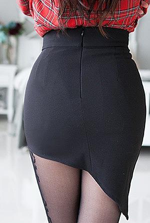 мини юбки вид сзади фото