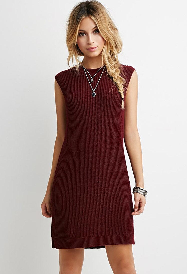 a883e20cca8 Свободное платье из ребристого трикотажа по низкой цене