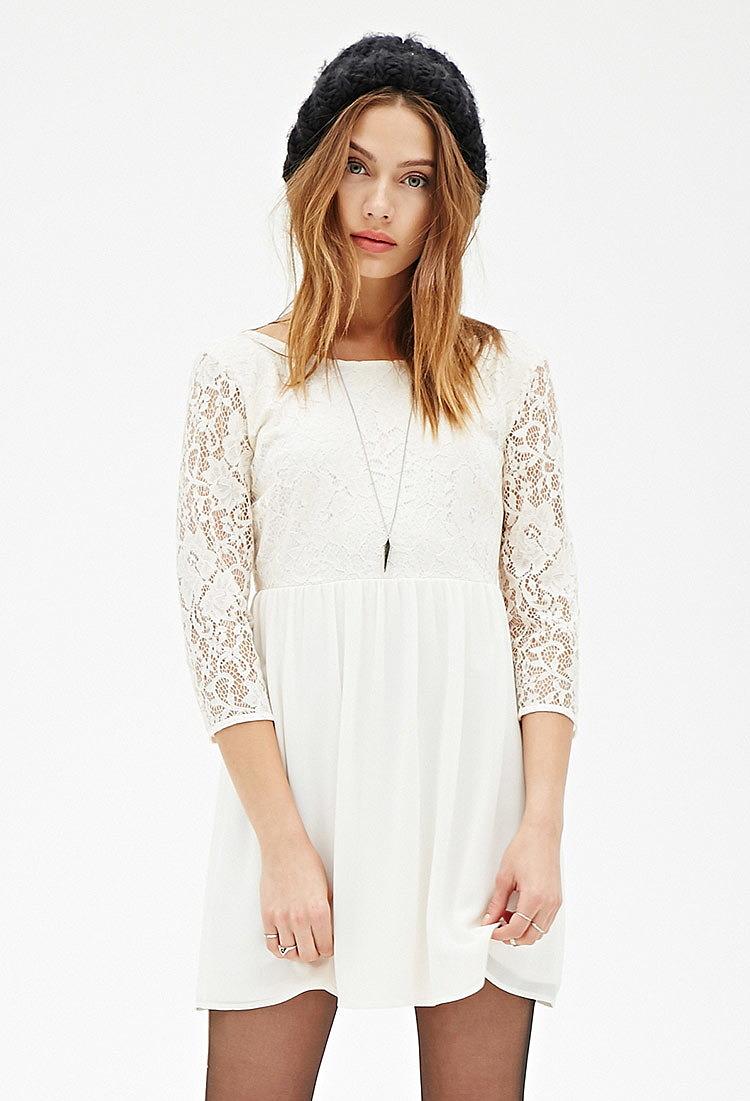db1b1c03c9d Комбинированное платье с кружевом - новая модель летнего платья по ...