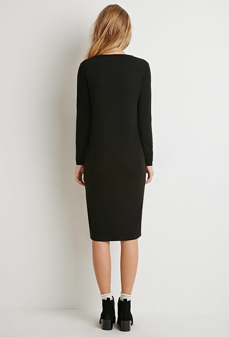 757b1c278fa Классическое платье-миди купить в цвете черный