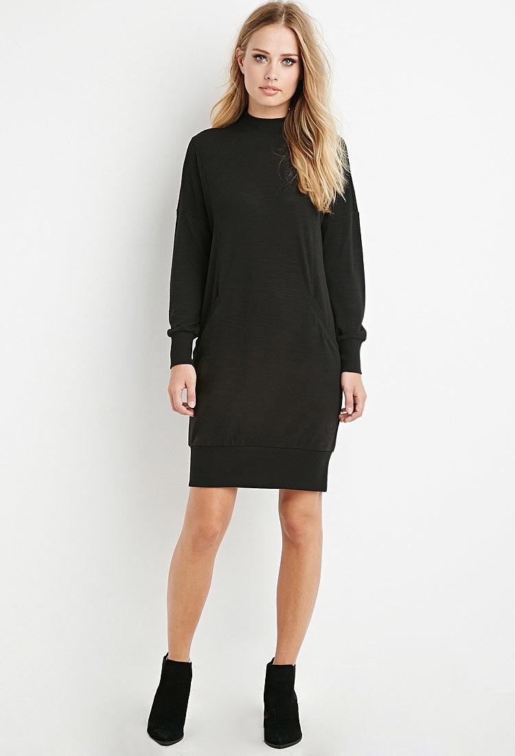 c3f8b1e0da6 Платье-свитер с декоративной вставкой по низкой цене