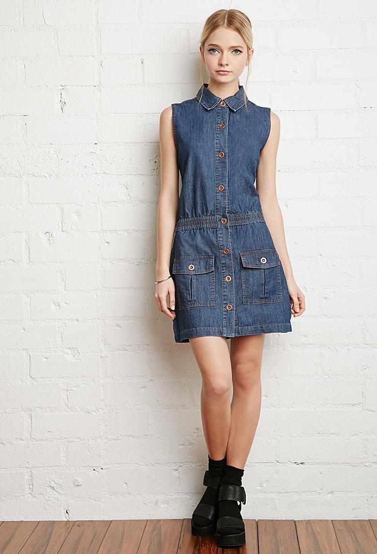 94115049d9c Джинсовое платье на кнопках купить в интернет магазин джинсовых ...