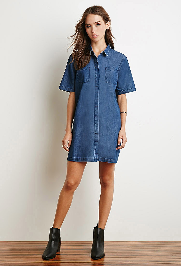 Купить джинсовая рубашка платье