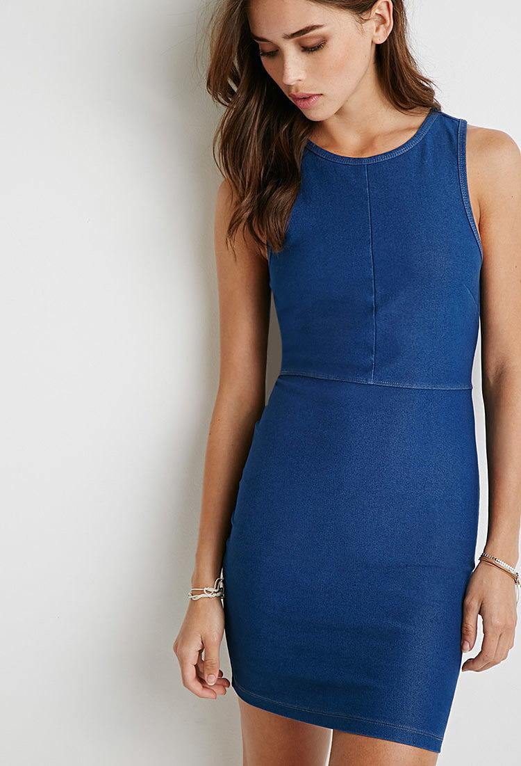18f67cf6d4b077b Джинсовое облегающее платье купить в интернет магазин джинсовых ...