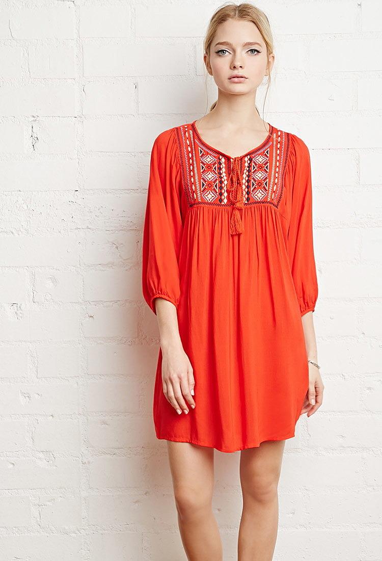 Купить крестьянское платье