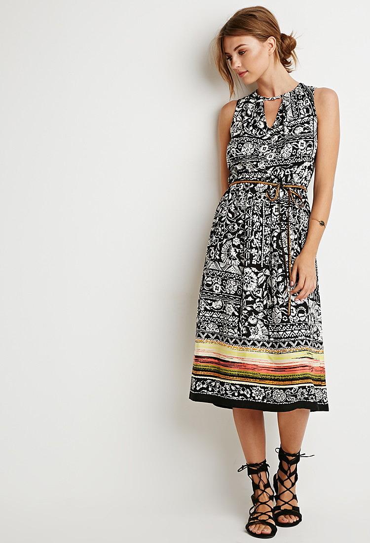 9bc425b2a54 Трендовое платье средней длины с цветочным принтом - новая модель ...