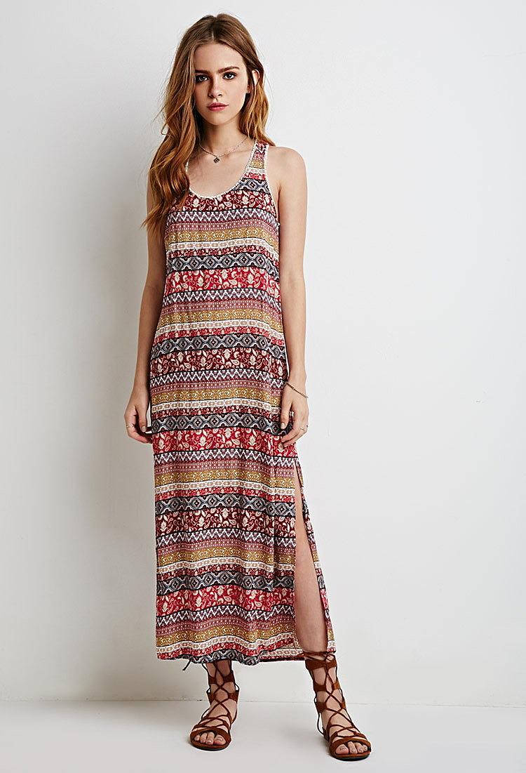 e3b2294b2a7 Платье с необычным принтом максимальной длины - новая модель летнего ...