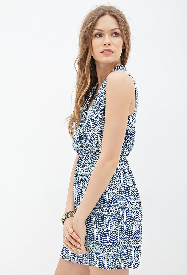 3bcd2a68314 Стильное платье с оригинальным этническим принтом купить недорого ...