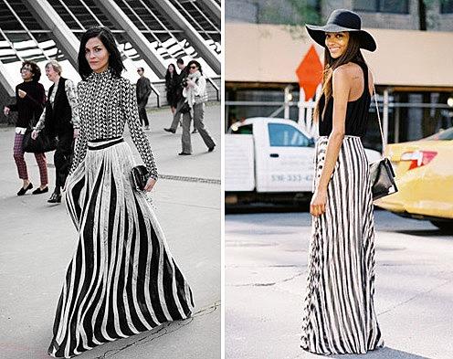 bd0d90dab11 Экстраординарная юбка в полоску. модные модели длинных maxi юбок по ...