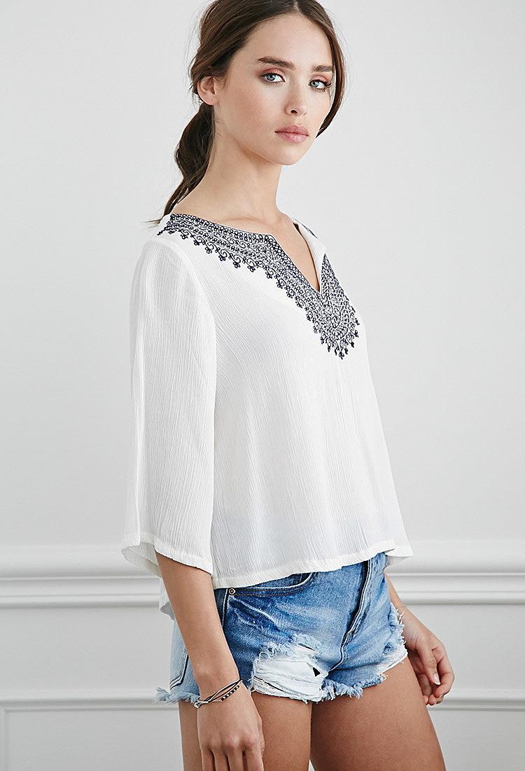 Крестьянская блузка купить