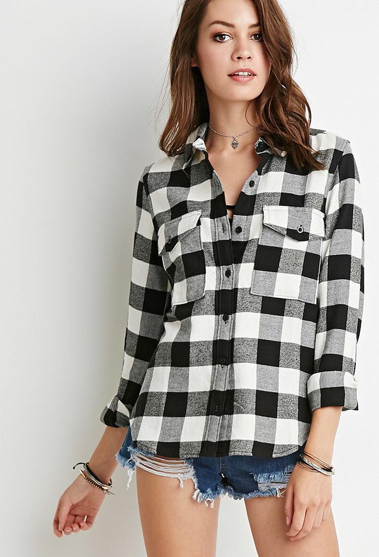 50276b675b5 Фланелевая рубашка в крупную клетку купить в интернет магазине ...