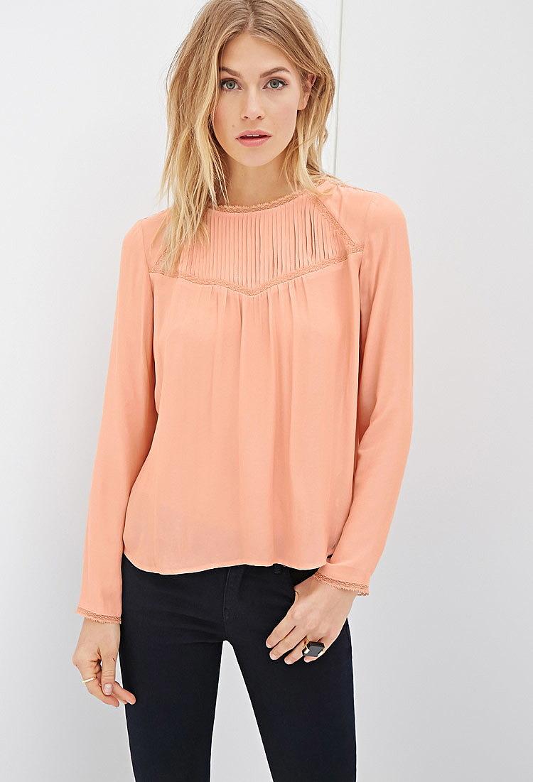 19030290050 Модная блузка с защипами купить в интернет магазине женских блузок ...