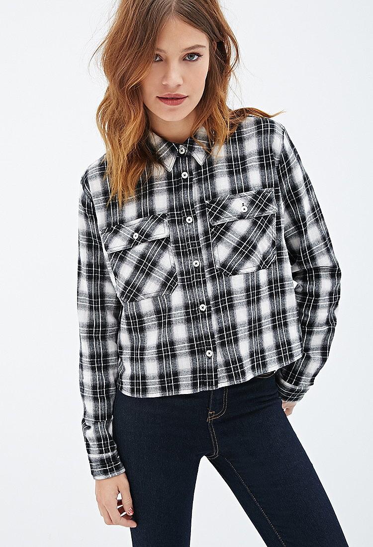 fbe9c7a29cc Клетчатая рубашка свободного кроя купить в интернет магазине женских ...